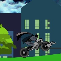 Бэтмен на мотоцикле Бэтмен